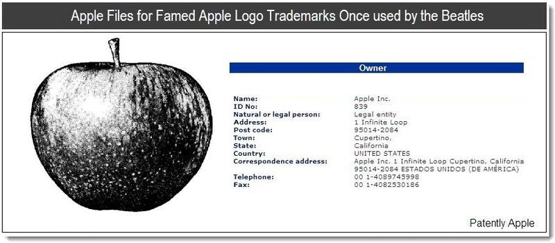 Apple's patent - Apple files patents for logos used by the Beatles