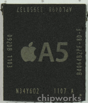 XRays show that the A5 chip used in the current  iPad 2 units are manufactured by Samsung