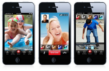 The new Qik app for the Apple iPhone 4 will allow users to video chat across participating platforms