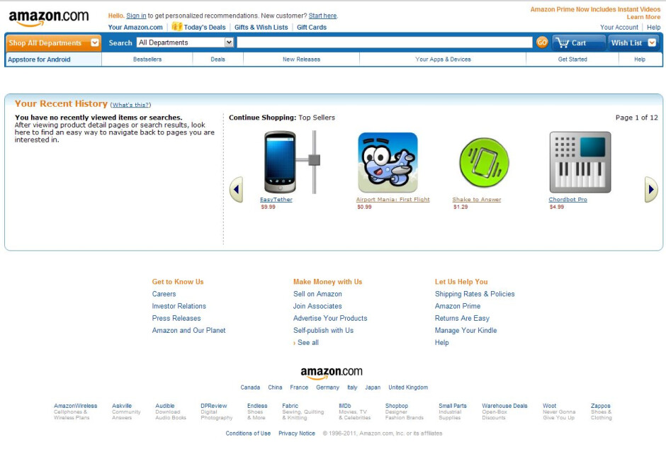 Amazon Appstore exposed by a lucky guess