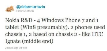Four Nokia Windows Phones rumored in the pipeline, plus a Nokia Windows 8 tablet