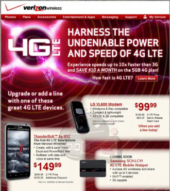 Verizon offers the HTC ThunderBolt for $149 to selected subscribers