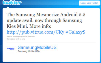 U.S. Cellular's Samsung Mesmerize gets upgraded to Android 2.2