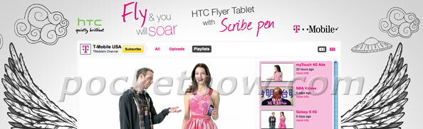 The image of the YouTube channel in this picture hints that the HTC Flyer is heading for T-Mobile USA as it is the only T-Mobile division with such a channel - HTC Flyer heading to T-Mobile USA?