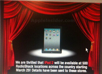 500 of the busiest Radio Shack stores will soon be offering the Apple iPad 2