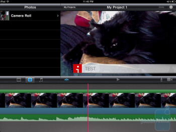 The interface of iMovie for iOS
