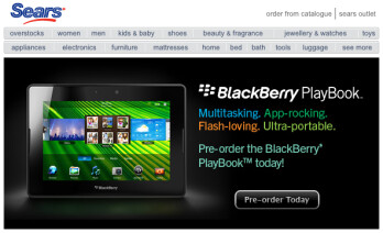You can pre-order your BlackBerry PlayBook now from Sears Canada