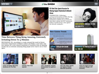The Onion fittingly releases their iPad app on April Fool's Day