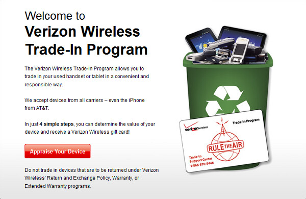 Verizon Trade In Program (hotlvstore.gan) submitted 4 years ago by duells. Go to hotlvstore.ga appraise your iPhone. You will get a gift card. Has to be working condition without any water damage or cracks. It will prompt you from there. You will have 30 days to turn in your device.