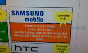 With the Google Nexus S 4G expected to launch April 18th for rep training, the consumer rollout could come around April 24th