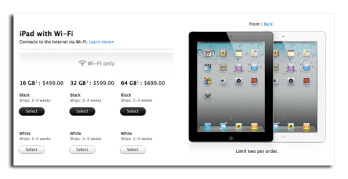 Apple has reduced the shipping time for iPad 2  orders made online to 2 to 3 weeks