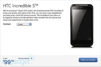 HTC Incredible S lands on Bell's lineup for $100 with a 3-year contract