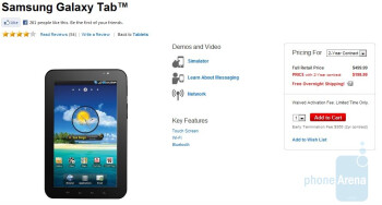 Verizon follows suit in lowering the price of the Samsung Galaxy Tab to $200 on-contract