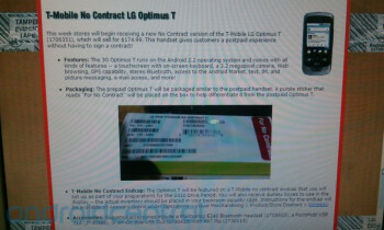 LG Optimus T for T-Mobile coming to Radio Shack with a $175 no-contract price tag