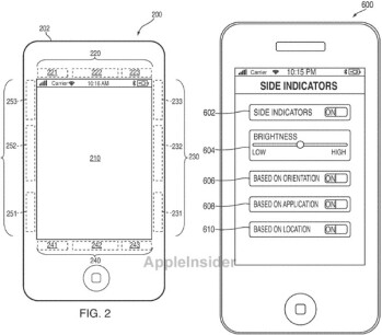 Apple has filed an application for a secondary display to be placed around the bezel of an iPhone