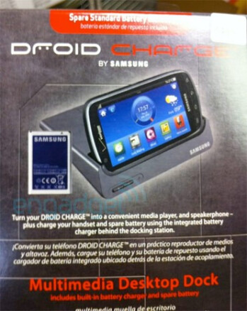 Promotional material shows off Multimedia Desktop Dock for the Samsung Droid Charge