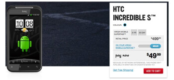 Bell & Virgin Mobile Canada quickly shaves $50 off the pricing of the HTC Incredible S