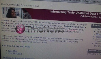 A leaked screenshot shows that T-Mobile is expected to introduce