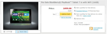 Staples is now accepting pre-orders for the BlackBerry PlayBook on their web site
