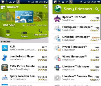 Sony Ericsson starts a trend, launches its own app channel in Android Market