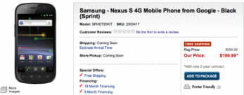 Best Buy is now offering pre-orders online for the Google Nexus S 4G