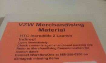 Marketing materials for the HTC Droid Incredible show up at indirect stores