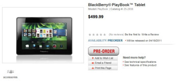 RadioShack throws the switch on for BlackBerry PlayBook pre-orders