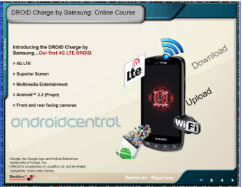 Verizon has started to train its personnel for the upcoming launch of the Samsung Droid Charge