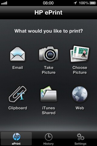 HP's ePrint service app allows Apple iPhone users to print on the go