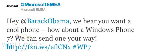 Obama wants cooler phones in the White House, Microsoft tweets it can be arranged