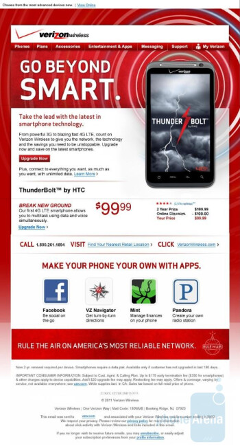 $99 gets you the HTC ThunderBolt, but only if you live in Michigan?
