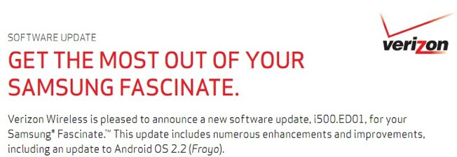 If all goes as planned, Samsung Fascinate owners will finally get the Android 2.2 upgrade on Thursday - Samsung Fascinate users will finally receive their Froyo tomorrow