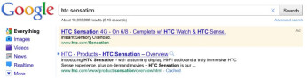 This sponsored link suggests a June 8th launch for the HTC Sensation 4G