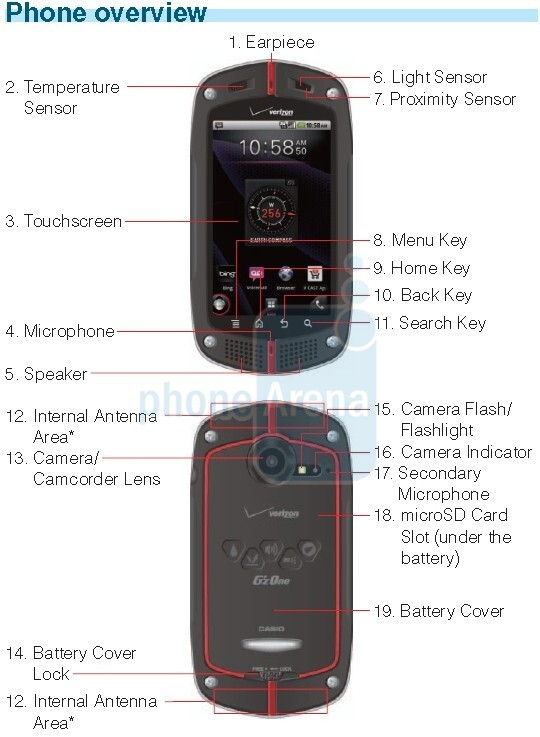 casio g zone commando to launch on verizon april 28th rh phonearena com casio commando user manual Casio Commando LTE