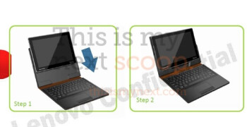 Lenovo's convertible style Honeycomb tablet boasts an optional stylus - slated for summer