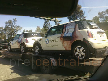HP is using these Mini Coopers to let everyone in L.A. know that with the HP Veer 4G, small is the new big
