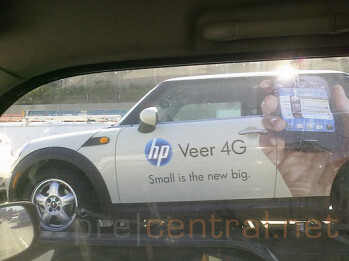 Mini Coopers provide maxi promotion for the HP Veer 4G in Los Angeles