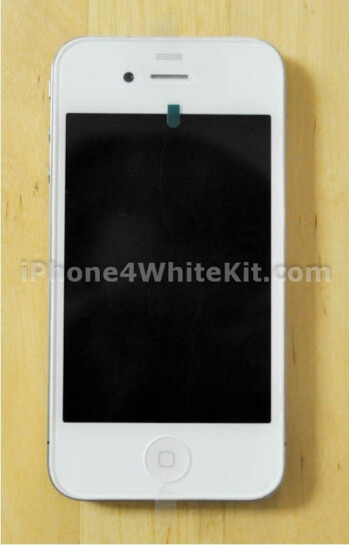 White iPhone 4 made with aftermarket conversion kit