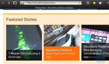 The web browsing experience is the most satisfying part about the PlayBook's QNX based platform