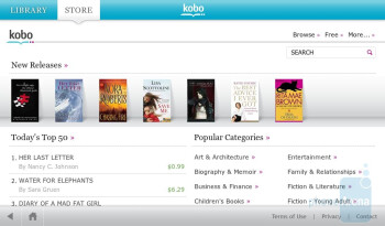 You can purchase ebooks through Kobo Books