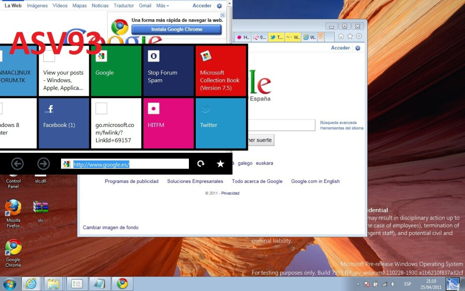 Touch-friendly panels in Internet Explorer - Rogue leaks give us a hint about the Windows 8 touch interface and apps