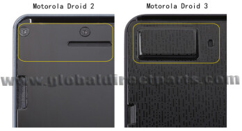 The bump on the back of the DROID 3's slider proves the existance of the front-facing camera
