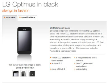 Orange UK is also planning to sell the LG Optimus Black for free on select plans