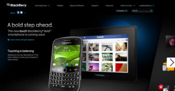 RIM puts picture of BlackBerry Bold Touch on its web site prior to introduction