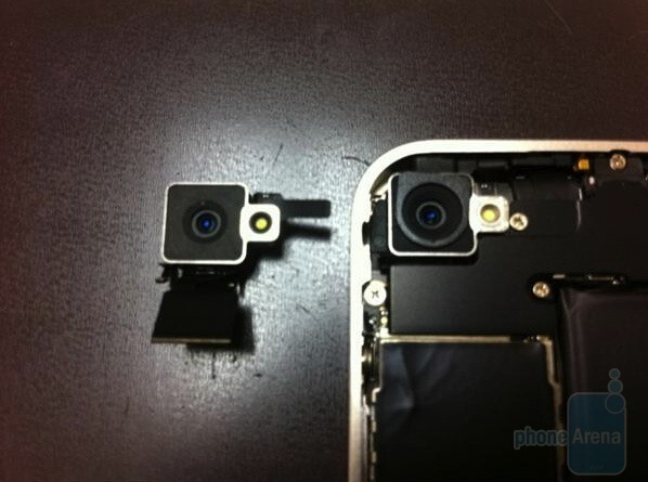The camera on the white Apple iPhone 4 is more recessed than on the black version - Camera lens and proximity sensor both revised on white Apple iPhone 4
