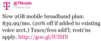 T-Mobile makes its 2GB for $40 data plan official
