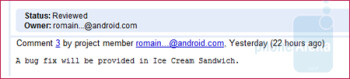 The next Android OS build could be called Ice Cream Sandwich