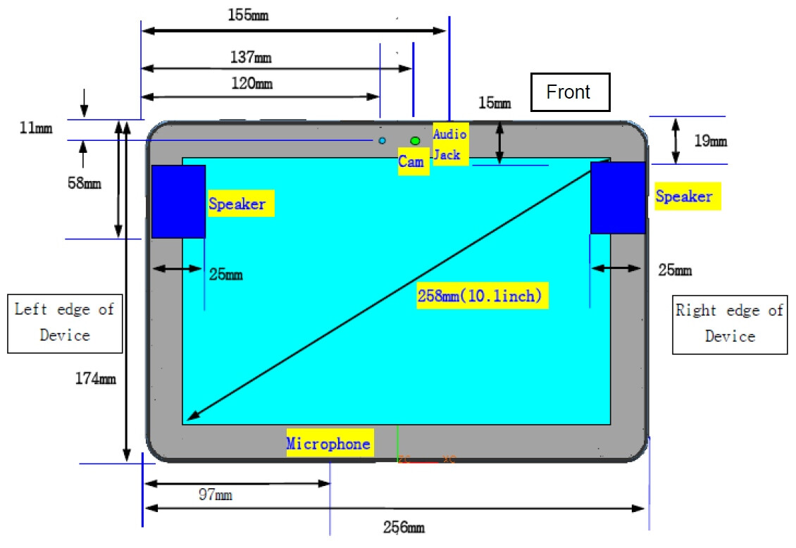 Samsung galaxy tab 10 1 hits the fcc for Table th size