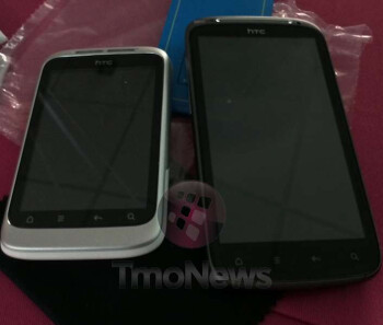 Unbranded HTC Marvel for T-Mobile alongside an HTC Sensation 4G.