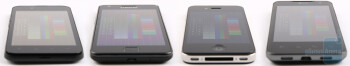 From left to right - LG Optimus Black, Samsung Galaxy S II, Apple iPhone 4, LG Optimus 2X